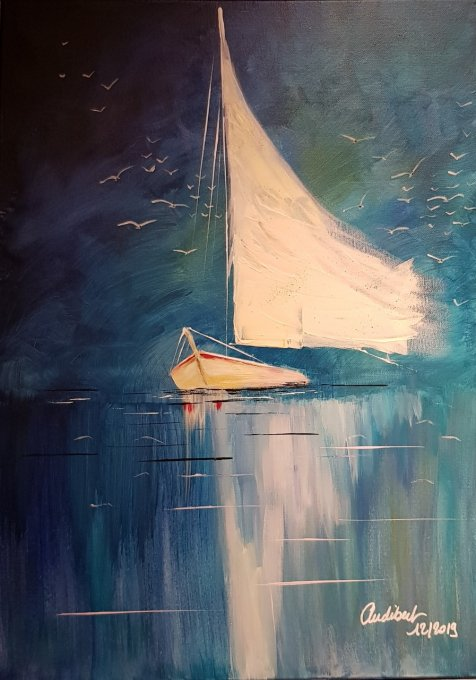 THE BOAT 50x70