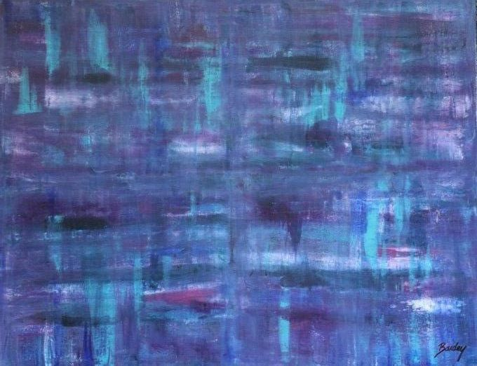 SHADES OF BLUE  90X70